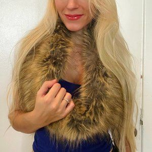 Faux Fur Infinity Scarf - Great Condition